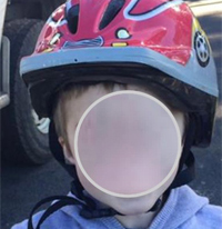 Example when the helmet don't fit